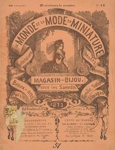 La Mode-Miniature. 1873, nr 74