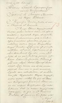 Naruszewicz teka. 280 dokumentów z 1535 r. T. 52, nr 73