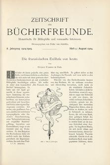 Zeitschrift für Bücherfreunde : Monatshefte für Bibliophilie und verwandte Interessen. 1904, nr 5