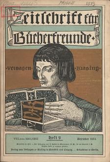 Zeitschrift für Bücherfreunde : Monatshefte für Bibliophilie und verwandte Interessen. 1904, nr 9