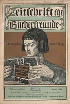 Zeitschrift für Bücherfreunde : Monatshefte für Bibliophilie und verwandte Interessen. 1905, nr 10