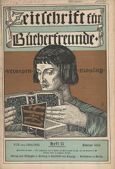 Zeitschrift für Bücherfreunde : Monatshefte für Bibliophilie und verwandte Interessen. 1905, nr 11