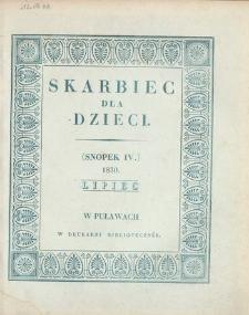 Skarbiec dla Dzieci. 1830, nr 4 (lipiec)