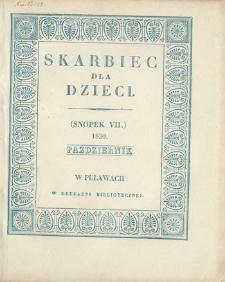 Skarbiec dla Dzieci. 1830, nr 7 (październik)