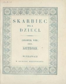 Skarbiec dla Dzieci. 1830, nr 8 (listopad)