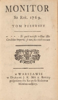 Monitor. 1769. T. 1, nr 1-52