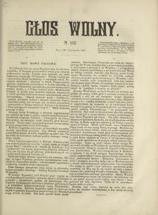 Głos Wolny. 1867, nr 157 (20 XI)