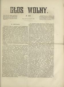 Głos Wolny. 1867, nr 158 (30 XI)