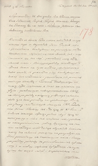 Naruszewicz teka. 272 dokumenty z 1607 r. T. 103, nr 178