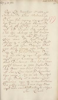 Naruszewicz teka. 272 dokumenty z 1607 r. T. 103, nr 179