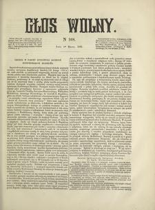 Głos Wolny. 1868, nr 168 (1 III)