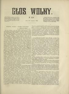 Głos Wolny. 1868, nr 178 (10 VI)