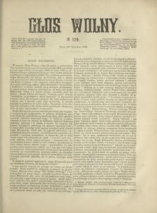 Głos Wolny. 1868, nr 179 (20 VI)