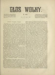 Głos Wolny. 1868, nr 182 (20 VII)