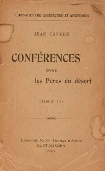 Conférences des pères du désert de Diolcos : XVIII-XXIV