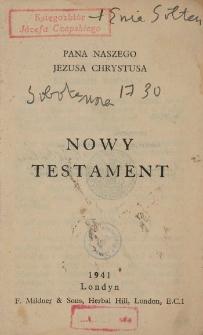 Nowy Testament Pana naszego Jezusa Chrystusa