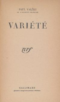 Variéte. [T. 1]