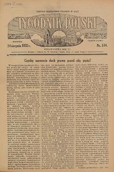 Tygodnik Polski. 1932, nr 534 (14 VIII)