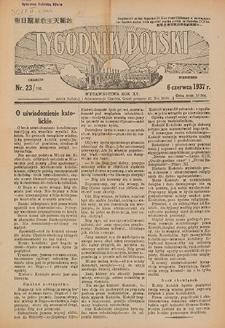 Tygodnik Polski. 1937, nr 23 (6 VI) = nr 785