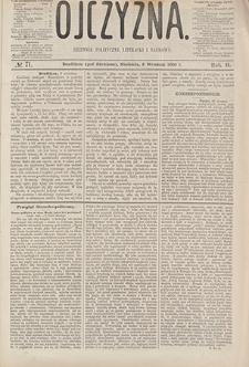 Ojczyzna : dziennik polityczny, literacki i naukowy. 1865, nr 71 (3 IX)